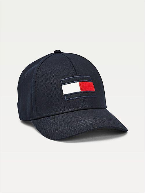 Gorra-en-puro-algodon-con-parche-distintivo-Tommy-Hilfiger