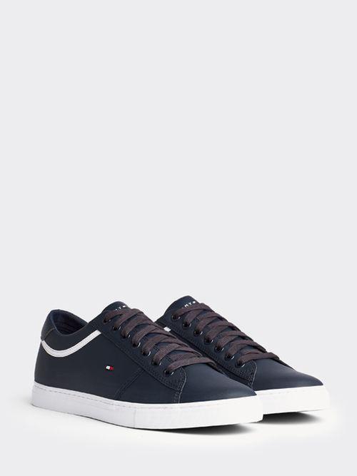 Zapatillas-color-block-Essential-de-piel-con-cordones-Tommy-Hilfiger