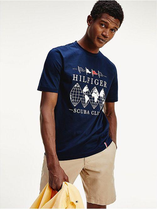 Camiseta-de-corte-amplio-con-logo-Scuba-Club-Tommy-Hilfiger