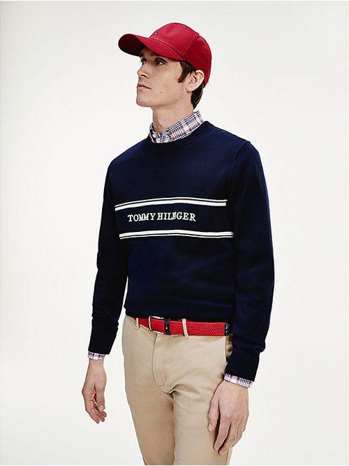 Jersey-con-cuello-redondo-y-logo-Tommy-Hilfiger