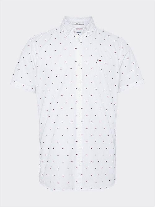 Camisa-de-manga-corta-con-estampado-de-puntos-Tommy-Hilfiger