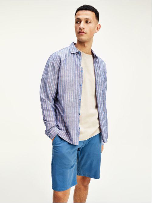 Camisa-de-algodon-y-lino-con-logo-Tommy-Hilfiger