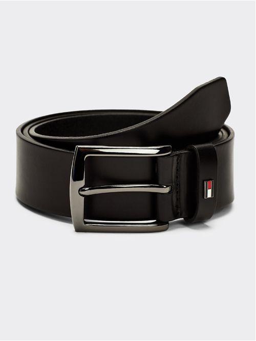 Cinturon-Denton-de-piel-con-hebilla-pulida-Tommy-Hilfiger