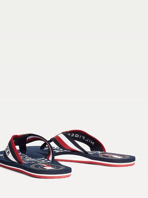 Chanclas-color-block-con-logo-nautico-Tommy-Hilfiger