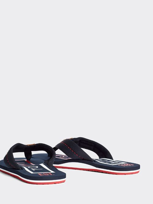 Chanclas-color-block-con-logo-Tommy-Hilfiger