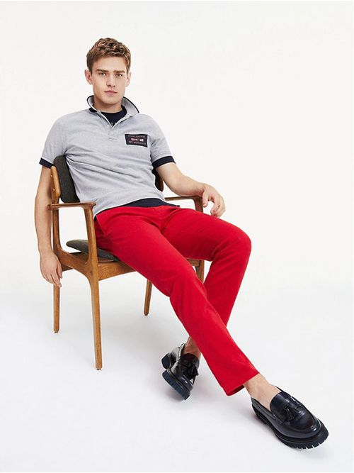 Polo-de-corte-slim-con-logo-global-Tommy-Hilfiger