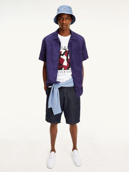 Camisa-de-lino-con-cuello-cubano