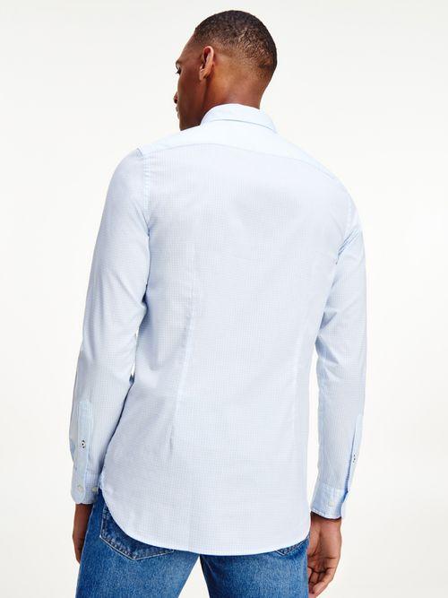 Camisa-de-corte-slim-con-cuadros-Vichy