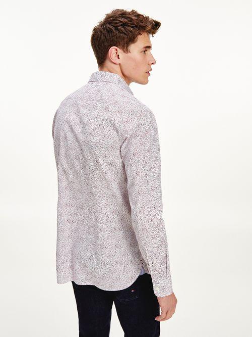 Camisa-con-estampado-de-flores-de-corte-slim