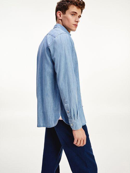 Camisa-de-tejido-denim-y-corte-regular